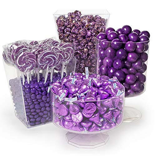Purple Candy Buffet Supplies (Approx 9 lbs) - Purple Candy Bar Supplies - Free Cold Packaging