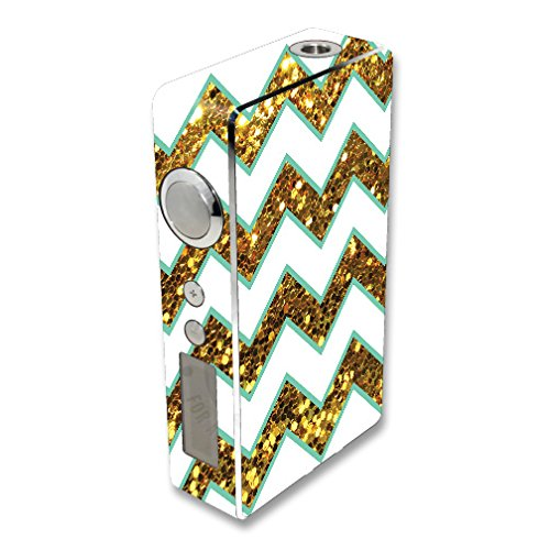 MightySkins Skin Compatible with Sigelei 100W Plus / 150W – Glitzy Chevron | Protective, Durable, and Unique Vinyl Decal wrap Cover | Easy to Apply, Remove, and Change Styles | Made in The USA