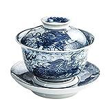 TXOZ Tazze da tè Tradizionali del Drago Cinese Modello Disegnato a Mano Tazza da tè a Mano a Mano Tazze di tè in Ceramica Kungfu Tazza di tè Senza Maniglie, Regalo casalinga