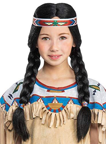Maskworld Nscho-tschi Perücke für Kinder - Indianer Western - Lizenz-Kostüme aus den Karl-May-Filmen für Karneval und Motto-Party