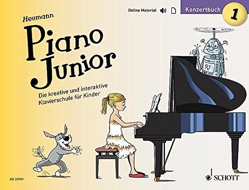 Piano Junior: Konzertbuch 1: Die kreative und interaktive Klavierschule für Kinder. Band 1. Klavier. Ausgabe mit verschiedenen Online-Materialien. (Piano Junior - deutsche Ausgabe)