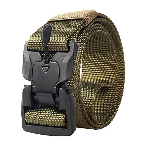 Aoten Cinturón de nailon magnético de liberación rápida para hombre, duradero, fácil de usar, ajustable, práctico para adultos