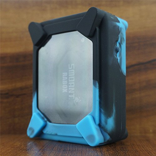 ModShield for Smoant RABOX 100W 3300mAh Silicone Case ByJojo Sleeve Skin Cover Wrap (Blue/Black)