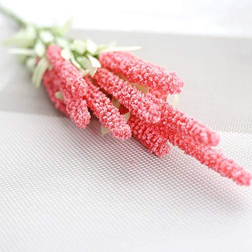 Hunpta @ Künstliche Blumen Lavender aus Kunststoff Kunstblumen Blumenarrangement für Haus Büro Balkon Garten Hochzeit Party Valentinstag Dekoration