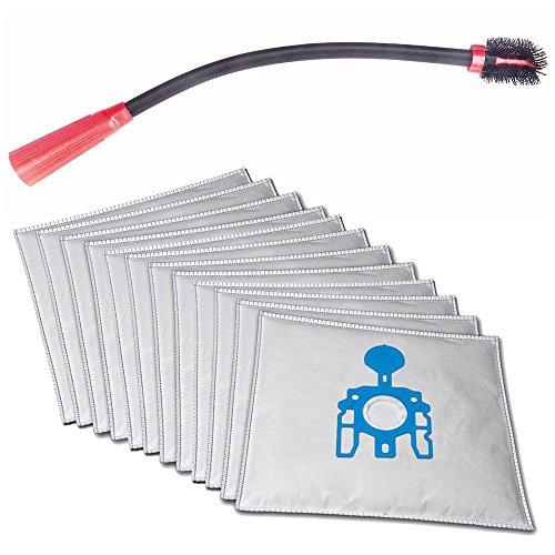 Con flessibilità per auto, barca, divano-, Termosifone, per mobili, fessure Bocchetta aspirapolvere adatto per Kärcher WD 3.200con 10sacchetti per aspirapolvere e 1rotolo di sacchetti per spazzatura da 16l