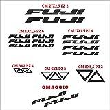 Set Adesivi Fuji Tagliati Singolarmente Stickers Compatibili Kit Decalcomanie Personalizza Colore Bici