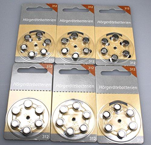 Hörgeräte Batterien Größe 312er 36 Stück