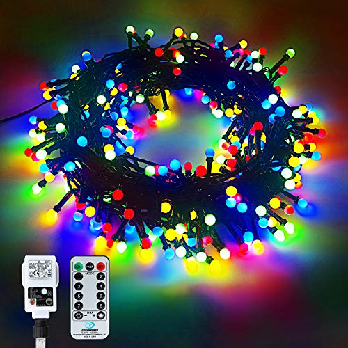 33M/300 LED Bulb String Lights,Plug in Power LED Waterproof Outdoor String Lights,Christmas Decoration Globe Lights with 8 Modes Remote, Color/Multi-Color String Lights for Indoor/Outdoor