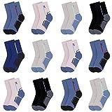 Libella 12 Pares de Calcetines de algodón para niños Calcetines deportivos para niños Vistoso 2829 31-34