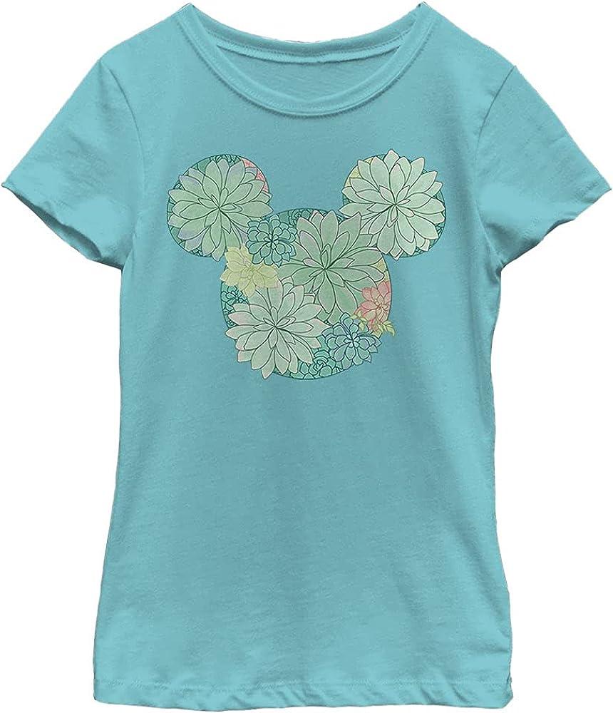 Disney Characters Succulents Girl's Solid Crew Tee