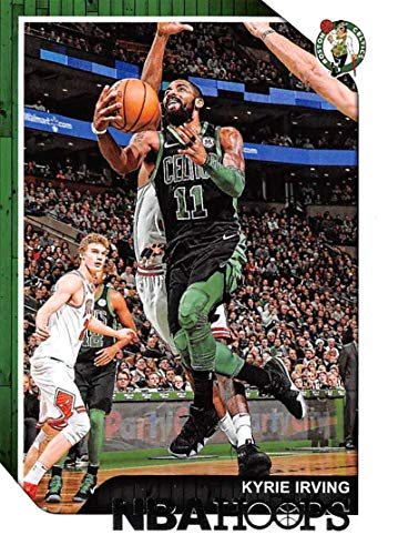 2018-19 NBA Hoops Basketball #96 Kyrie Irving Boston Celtics Official Trading Card made by Panini