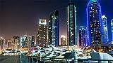Puzzle de 1000 Piezas de Rompecabezas de Madera Rompecabezas Decorativo-Rompecabezas Adulto-Regalo Rompecabezas Educativo-Juguete para niños Dubai Marina Ver