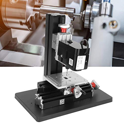 %5 OFF! Drilling Machine, Z20004M 12VDC 2A 24W Mini Precise Metal Drilling Machine Drill Press Stand...