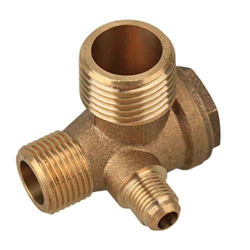 3-Wege Messing Mann Ventil Verbinder Werkzeug für Luft Kompressor 10mm,16.5mm,21mm Außengewinde Rohr Rückschlagventil Verbindungswerkzeug Luftkompressor Ersatzteile