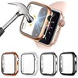 FITA [4 Stücke] Schutz Hülle Kompatibel mit Apple Watch SE/6/5/4 40MM Schutzhülle Glas Bildschirmschutz, Superdünne Blasenfreie PC Gehäuse Cover Hülle Kompatibel mit iwatch SE/6/5/4 (40mm)