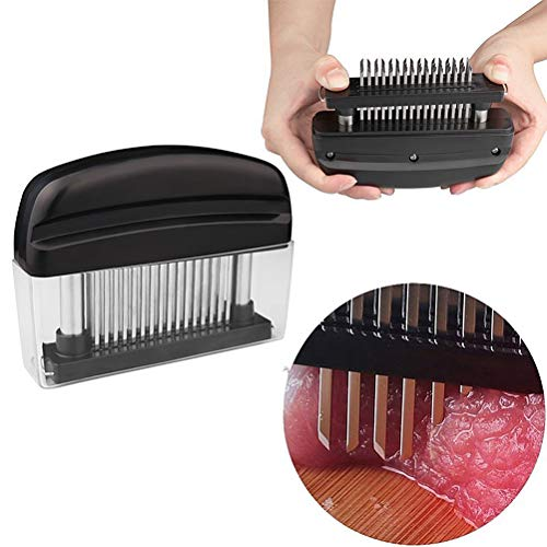 Meat Tenderizer 48 Stainless Steel Ultra Sharp Needle Blades Tenderizer Tool Needle Meat Cooking Tools for Tenderizing Beef Pork Steaks Lamb and BBQ