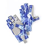 B-Forest Men&Women Fishing GlovesSun Protection Breathable Fingerless Anti-Slip Outdoor Gloves for Hiking, Paddling, Driving, Canoeing, Kayaking, Rowing Cycling Driving Shooting Training.