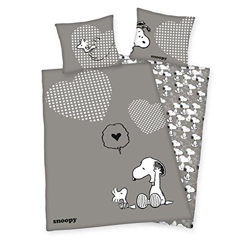 Herding 4489003027Bettwäsche für Kinder mit Bedruckt Snoopy aus Baumwolle Mehrfarbig 140x 200cm