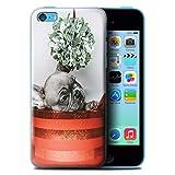 Stuff4 Coque de Coque pour Apple iPhone 5C / Chiot Gui Design/Fête de Noël Collection