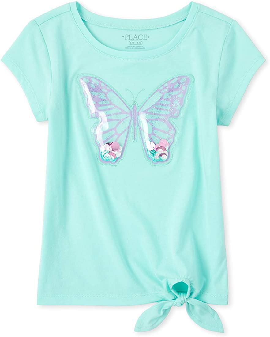 The Children's Place Girls' Shakey Butterfly Tie Front Top