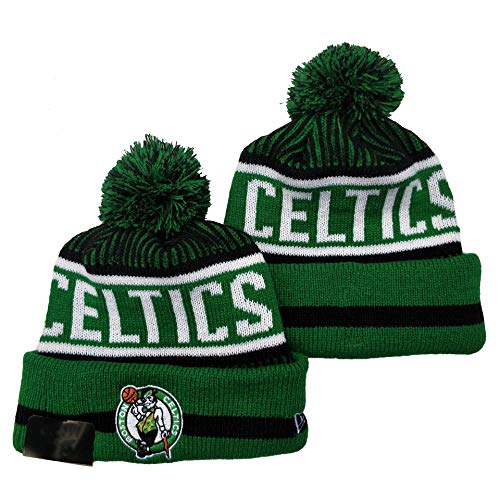 G-III Sports 2019 2020 for Adult Men & Women Sideline Sport Knit Winter Pom Knit Hat Cap Boston Celtics(4) Biggest Fan Knit Beanie with Pom
