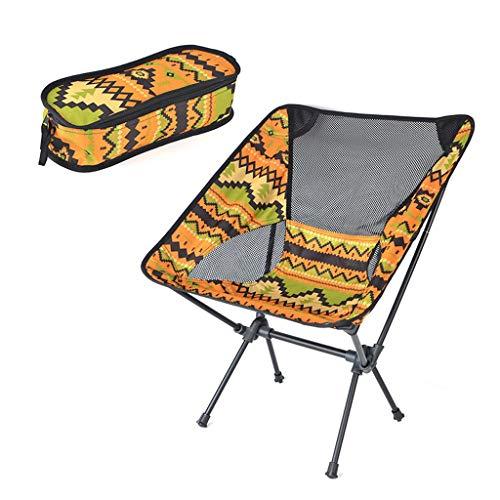 XXD Silla de Camping Plegable,Ligera,con Bolsa portátil,Carga hasta 265 lbs,Estable y Confortable, para Exteriores,Ideal para Acambaca/Senderismo/Viaje/Caza/Pescayellow