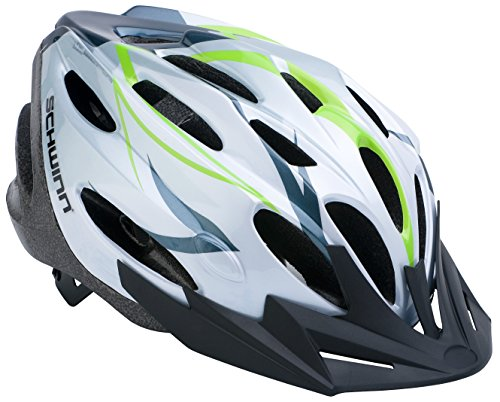 Schwinn Traveler Adult Bicycle Helmet, White/Green
