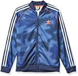 adidas Originals,unisex-youth,SST Top,Crew Blue/Multicolor/White/Solar Red,Large
