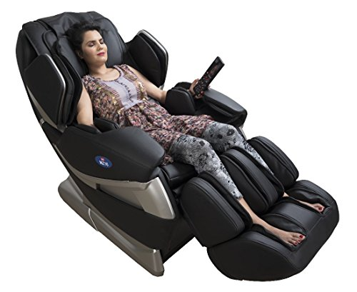 Jsb Mz16 Full Body Massage Chair For Home And Office - Black (Luxury 3D Space Saving Design)
