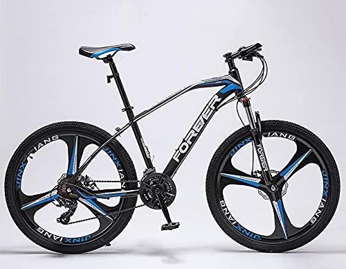 Bicicleta De Montaña De Velocidad Variable, Macho Salvaje, Adulto De Las Mujeres A Través del País, Bicicleta Adulto-Top con [Three Cuchillo Azul Negro_21 Velocidad De 27.5 Pulgadas,