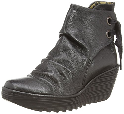 Fly London Yama - Botas para mujeres, color negro (black 033), talla 38 EU (5 UK)