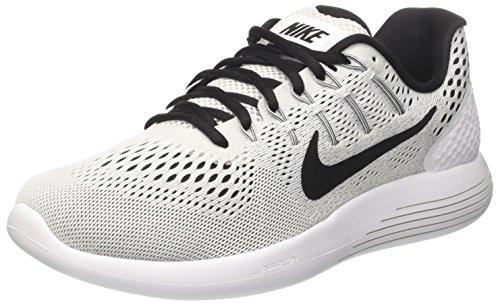 Nike Lunarglide 8, Scarpe Running Uomo, Bianco (White/Black), 39 EU