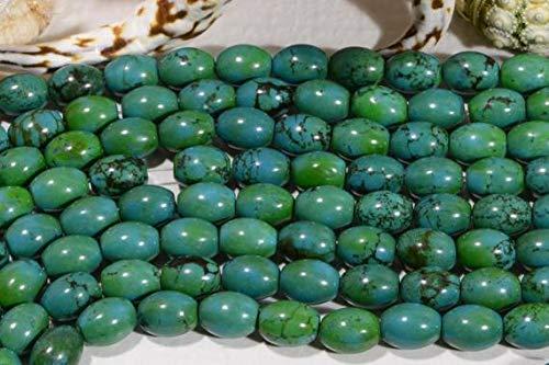 LOVEKUSH LKBEADS turquesa 10 x 7.8 mm de largo hebra de 20.3 cm de largo cuentas de piedras preciosas naturales suministros para hacer joyas, cuentas turquesas código HIGH-43294