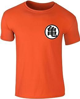 7a471facb Dragonball Z Cosplay Goku's Master Roshi Emblem Men's Orange T-Shirt