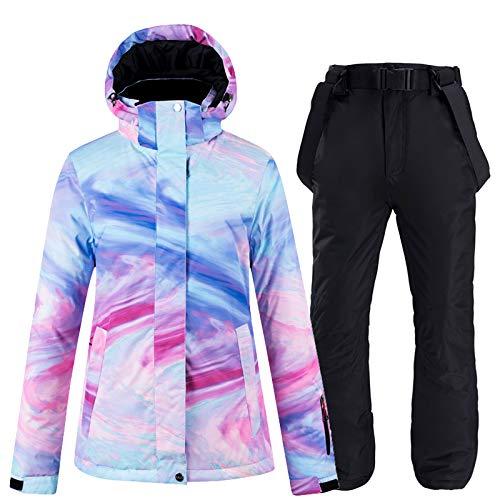 Traje de Nieve, Conjunto de Traje de Snowboard para Mujer, Traje de Engrosamiento...