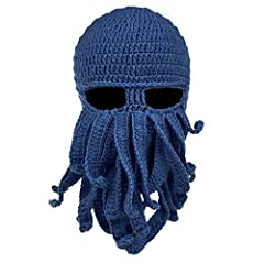 Stylish knit ski mask in octopus shape with tentacles Suitable for season: spring, autumn, winter Suitable for men or women