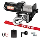 ZEAK 2500-lb. ATV Winch Kit with Mini-Rocker, Galvanized Steel, Waterproof