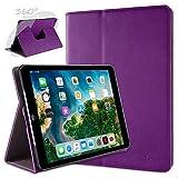 doupi Deluxe Schutzhülle für iPad Air (1. Gen.), Smart Hülle Sleep/Wake Funktion 360 Grad drehbar Schutz Hülle Ständer Cover Tasche, lila