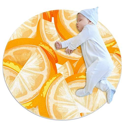 HDFGD Área de alfombra de las niñas habitación de los niños alfombra resistente lavable alfombras adolescente dormitorio alfombra, fondo naranja fruta