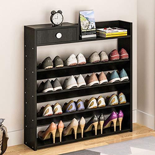Q-HL Zapatero Shoes Rack Zapatero Zapatos de Madera sólida del gabinete del cajón Multi-Capa de Zapatos Armario de Almacenamiento Organizador Estanterías de Madera estantes de Almacenamiento
