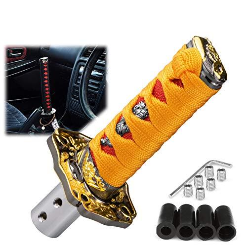 EzAuto Wrap 10cm Orange Red Shift Knob Samurai Sword Alloy Katana with Adapter Universal