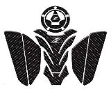 BTZHY 3D Accesorios de la Motocicleta Real del cojín del Tanque de Gas Combustible Etiqueta de la Etiqueta del Emblema de Moto del Protector for el Z800 Z750 Z1000 (Color : 1 Set)