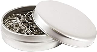 JAM PAPER Circular Paper Clips - Round Paperclips - Silver - 50/Pack