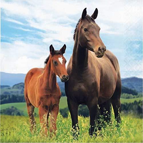 Kindergeburtstag Pferde Pony 16 Servietten