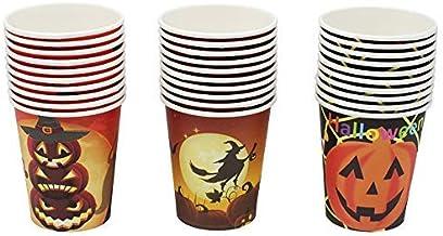 أكواب هالوين تستخدم لمرة واحدة كوب شاي لحفلات الأعياد، عبوة 30 قطعة، 266 مل