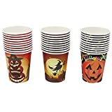 Halloween Cups Disposable Coffee Cup Tea Cup for Holiday Party, 30 Pack, 9oz