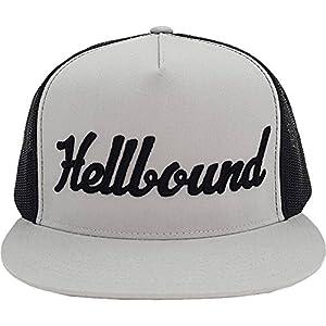 Red Devil Clothing Hellbound Trucker Snapback Hat Grey/Black