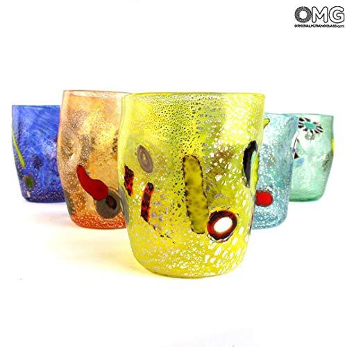 Set von 6Murano Trinken Gläser–Fruit Goto Trinkgläser, verschiedene Farben