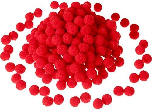 Sumind 250 Pi 232;ces Mini Pompoms Petits Pom Pom Duveteux pour D 233;cor Art Bricolages DIY Rouge 12 mm