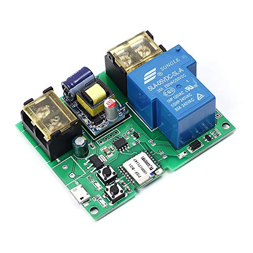 WIFI Remote Relay Module, 220V 30A 6000W Wireless Switch Relay Module Smart Home Automation Modules APP Remote Control Timer Switch Module